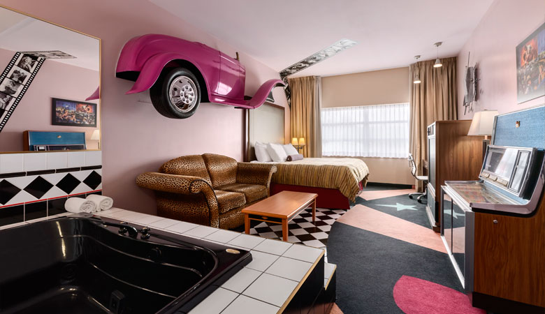 Travel Inspired Guest Room: Back To The 50's Themed Room